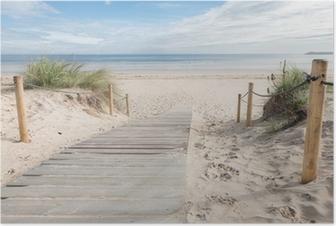 Poster Pfad zum Strand