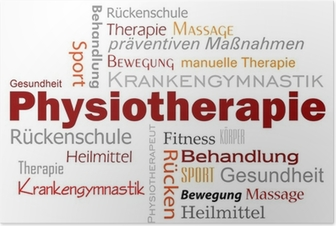 Poster Physiotherapie Wörter Text