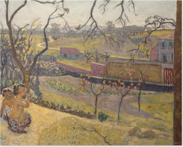 Poster Pierre Bonnard - Inizi di primavera. Piccoli fauni. - Reproductions