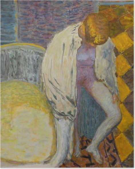 Poster Pierre Bonnard - Mädchen steigt aus der Badewanne - Reproductions