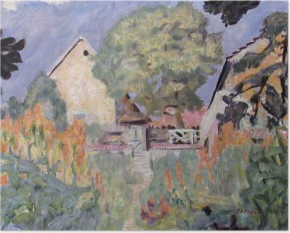 Poster Pierre Bonnard - Mein Haus in Vernon - der Garten - Reproductions