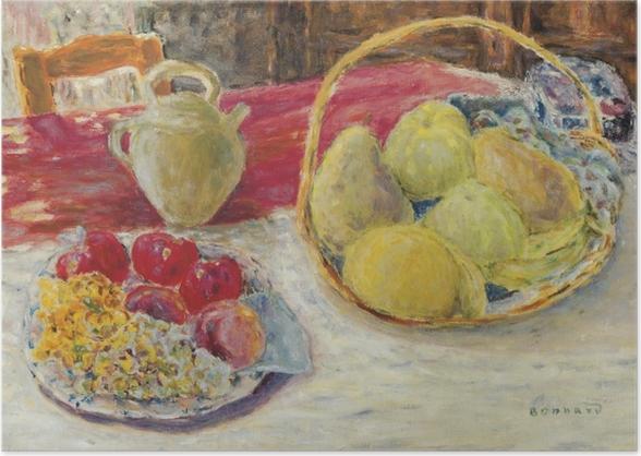 Poster Pierre Bonnard - Stillleben mit Früchten in der Sonne - Reproductions