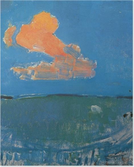 Poster Piet Mondrian - Die rote Wolke - Reproduktion