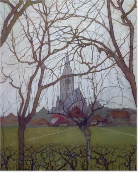 Poster Piet Mondrian - Dorfkirche - Reproduktion