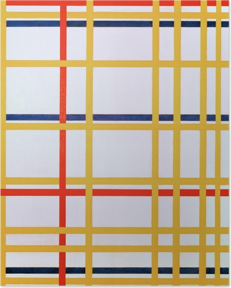Poster Piet Mondrian - New York City I - Reproduktion