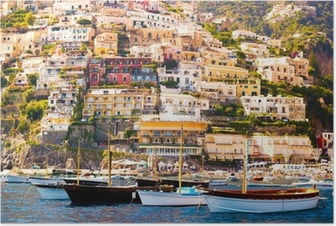 Poster Positano, Costiera Amalfitana