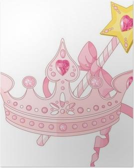 Poster Prinzessin Krone und Zauberstab