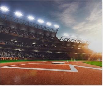 Poster Professionelle Baseball-Grand Arena in Sonnenlicht
