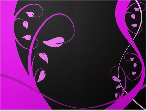 Poster Purple Abstract Floral Vector Hintergrund