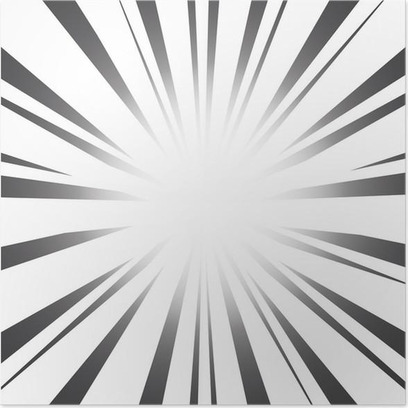 Poster Radial Speed Lines Grafik-Effekte • Pixers® - Wir leben, um ...