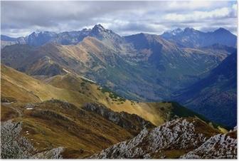 Poster Red Mountain Peaks, Tatra-Gebirge in Polen