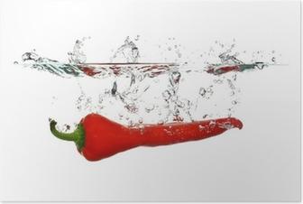 Poster Red Pepper splash