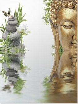 Poster Reflexionen des Buddha