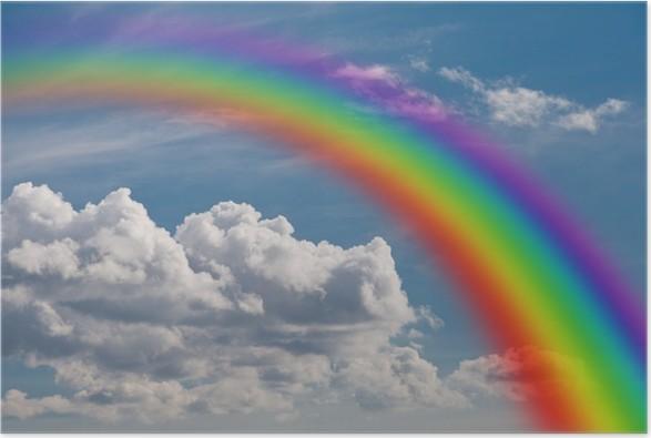 poster regenbogen in den wolken • pixers®  wir leben um