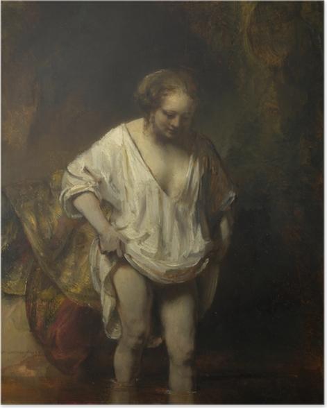 Poster Rembrandt - Badende Frau - Reproduktion