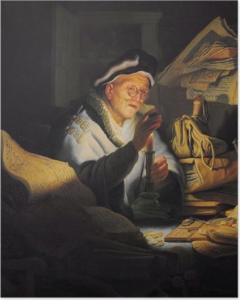Poster Rembrandt - Der Geldwechsler - Reproduktion