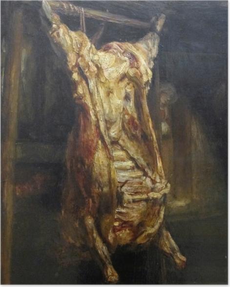 Poster Rembrandt - Der geschlachtete Ochse - Reproduktion