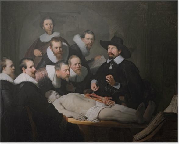 Poster Rembrandt - Die Anatomie des Dr. Tulp - Reproduktion