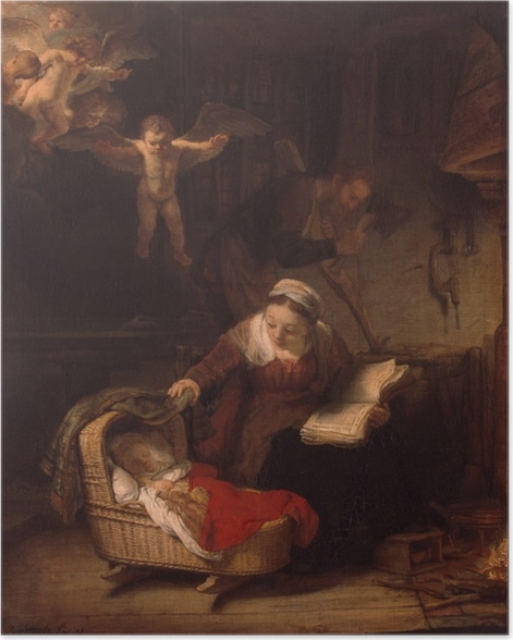 Poster Rembrandt - Die Heilige Familie - Reproduktion