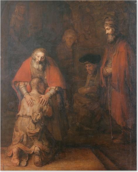 Poster Rembrandt - Die Rückkehr des verlorenen Sohns - Reproduktion