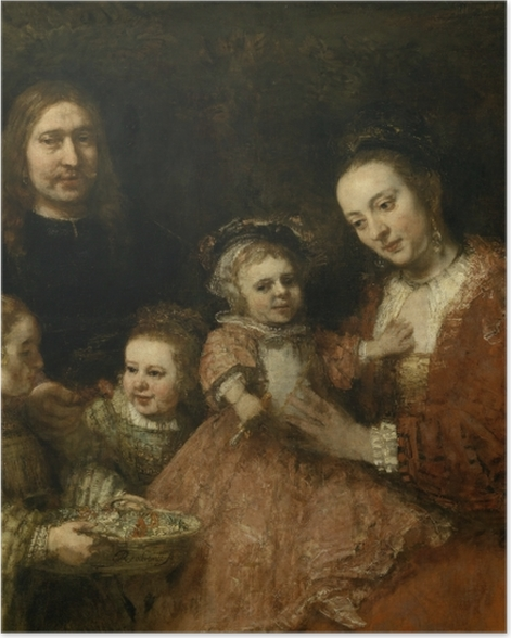 Poster Rembrandt - Familienbildnis - Reproduktion