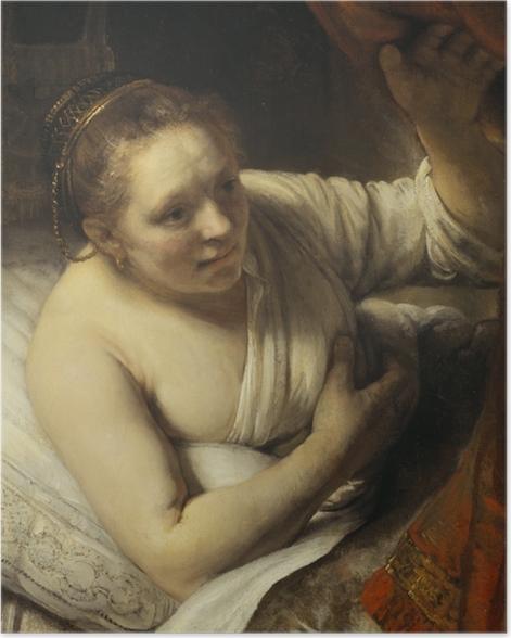 Poster Rembrandt - Junge Frau im Bett - Reproduktion
