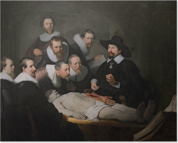 Poster Rembrandt - La lezione di anatomia od Dr Nicolaes Tulip - Riproduzioni