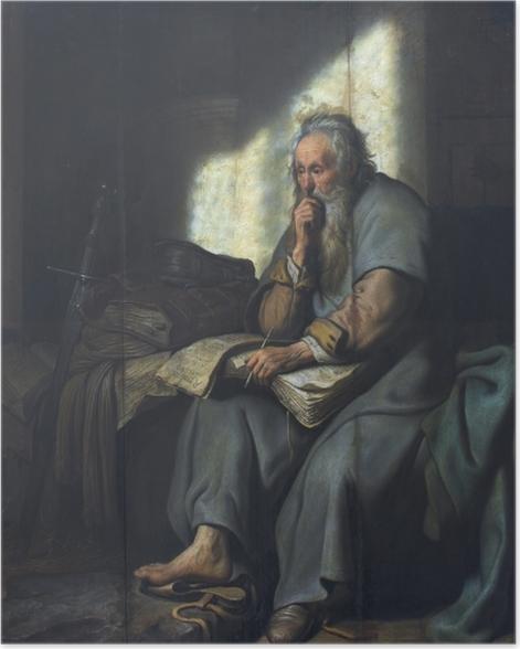 Poster Rembrandt - Paulus im Gefängnis - Reproduktion