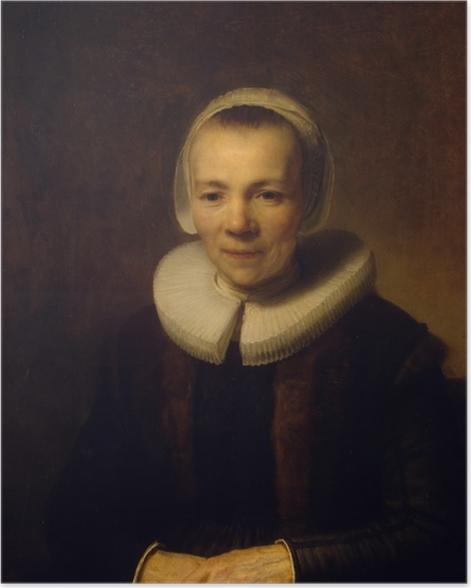 Poster Rembrandt - Porträt der Baertje Martens - Reproduktion