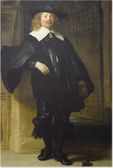 Poster Rembrandt - Porträt des Andries de Graeff - Reproduktion
