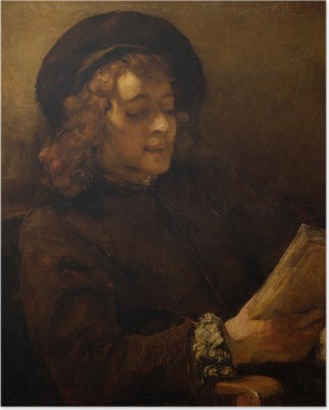 Poster Rembrandt - Porträt des Titus, lesend - Reproduktion