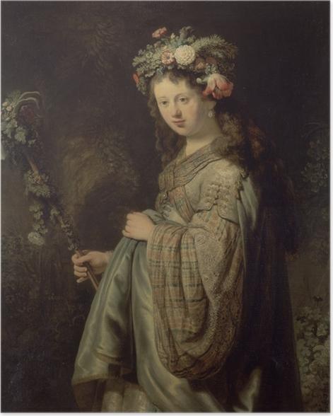 Poster Rembrandt - Saskia als Flora - Reproduktion