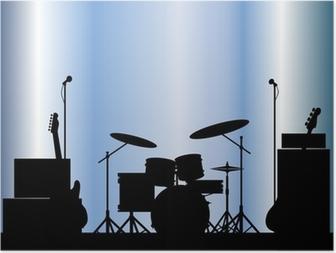 Poster Rock Band-Ausrüstung