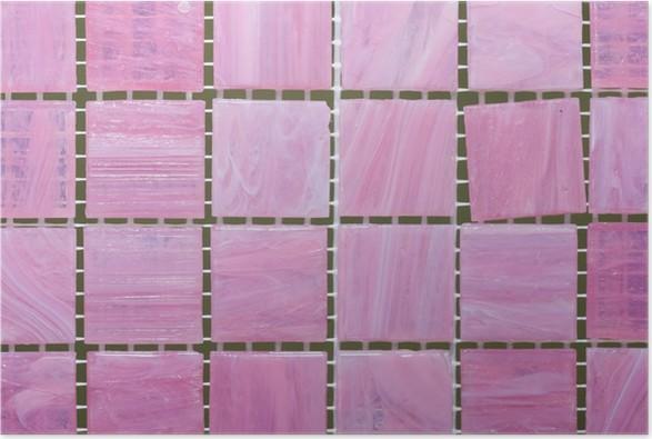 Poster Rosa MosaikFliesen Pixers Wir Leben Um Zu Verändern - Rosa mosaik fliesen