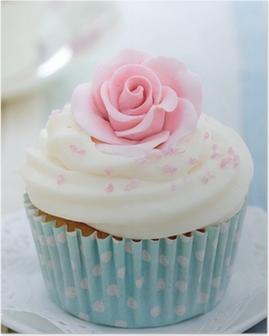 Poster Rose Cupcake