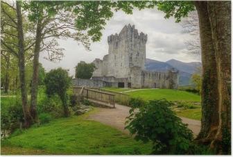Poster Ross Castle nahe Killarney, Co. Kerry Irland