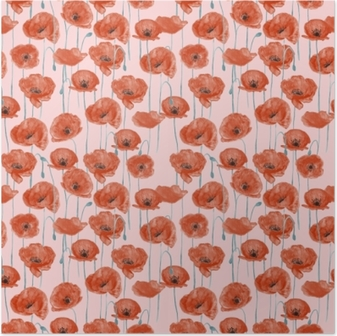 Poster Rote Mohnblumen - Nina Ho