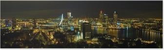 Poster Rotterdam in der Nacht