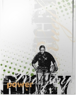 Poster Rugby-Hintergrund 2