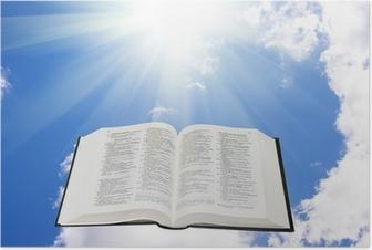Poster Sacra Bibbia nel cielo illuminato da una luce solare