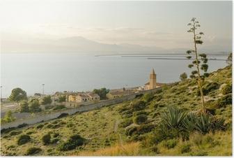 Poster Sardegna, Cagliari, panorama del Capo Sant'elia