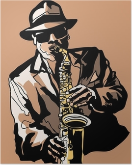 Poster Saxophone player