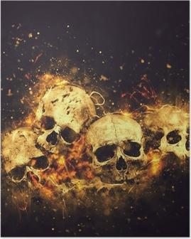 Poster Schädel und Knochen