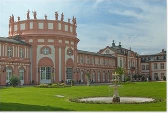 Poster Schloss Wiesbaden Biebrich