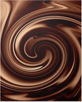 Poster Schokolade Hintergrund