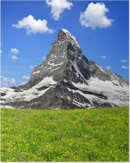 Poster Schöne Mount Matterhorn - Schweizer Alpen