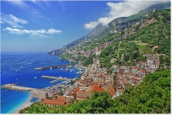 Poster Schönen Küste von Amalfi, Italien