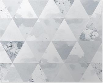 Poster Schwarz-Weiß-Muster