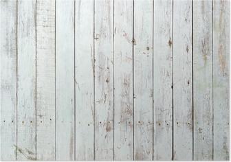 Poster Schwarze und weiße Hintergrund von Holzbrett