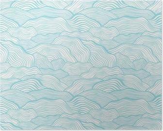 Poster Seamless pattern con struttura in scala ondulato